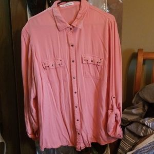 Maurices coral studded top 2x